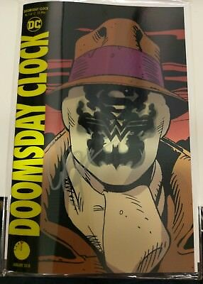 Doomsday Clock #1 Lenticular Signed By Scott Snyder Nm
