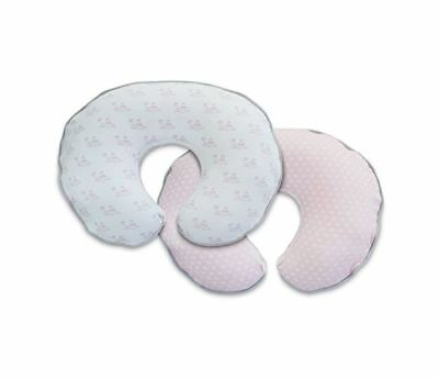 Boppy Pillow SLIPCOVER, Pink Organic Birds and Hearts