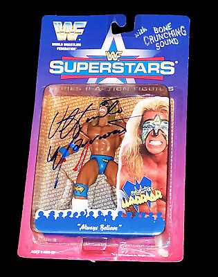 Wwf Wwe The Ultimate Warrior Hand Signed Autographed Toy Action Figure With Coa