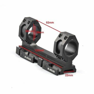 1 Pc 25mm-30mm Ring QD Auto Lock 20mm Picatinny/Weaver Rail Scope Mount US STOCK