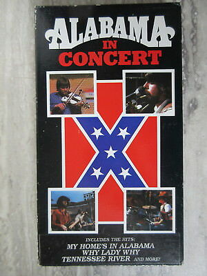 Old Vintage VHS Alabama In Concert