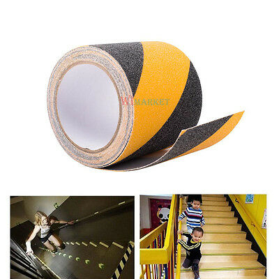 "4""x15' Anti Slip Non Skid Traction Safety Grit Grip Tape Strips Sticker Adhesive"