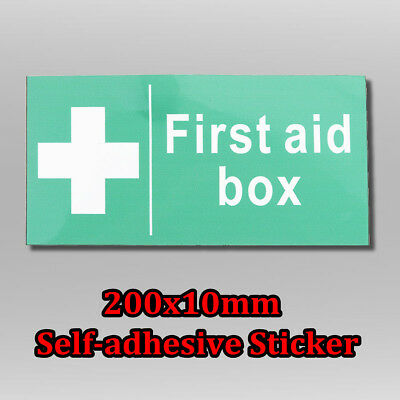 200X100mm First Aid Box Sign Self-Adhesive Emergency Health Safety Sticker Decal