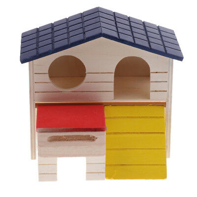 Wooden Hamster House Small Pets Cage for Mice Rat Dwarf Hamster Guinea Pig