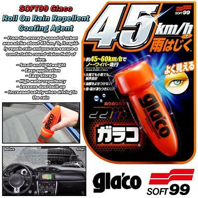 SOFT99 Glaco Roll On Coating Agent Windshield Glass Mirror Water Rain Repellent