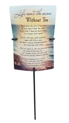 Grave Card & Holder Stake Life Isnt Same Without You Graveside Memorial Sympathy