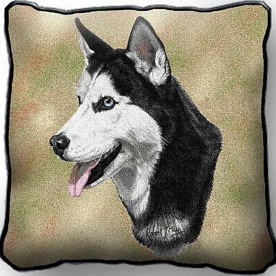 "17"" x 17"" Pillow - Siberian Husky by Robert May 1172"