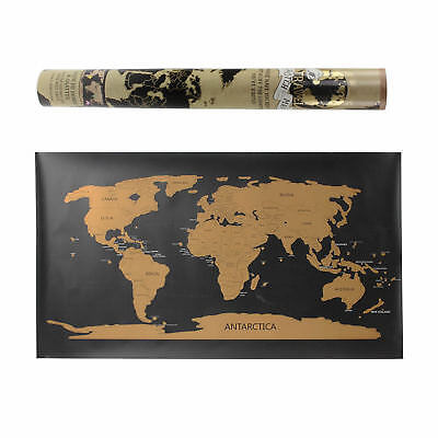 80x45 cm Travellers Large Scratch Off World Map Travel Holiday Poster Wall Paper