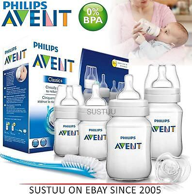 Philips Avent Classic+ Newborn Infant Starter Set/Kit│Anti-Colic│BPA Free│NEW