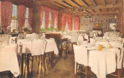 White Plains New York Swan Inn Interior Antique Postcard K89153