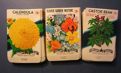 Wholesale Lot of 150 Old Vintage - Flower - SEED PACKETS - 20 Cent - EMPTY 20B