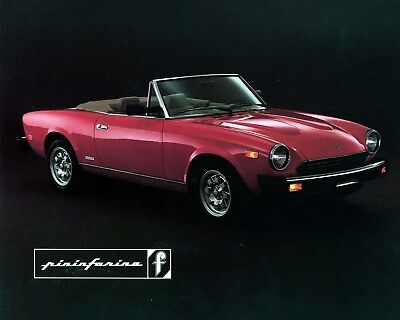 1980 1981 1982 ? Fiat 124 Pininfarina Spider Factory Photo ca9674
