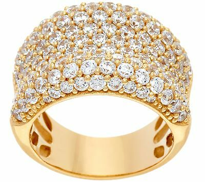 DIAMONIQUE 14K YELLOW GOLD-CLAD STERLING SILVER ELEPHANT RING SIZE 6 QVC $129.00