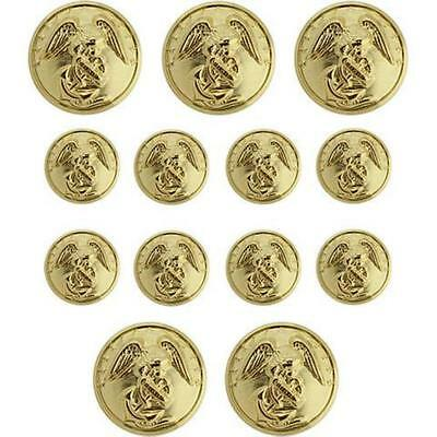 Marine Corps Anodized Button Set Officer - (8-27 Ligne and 5-40 Ligne)