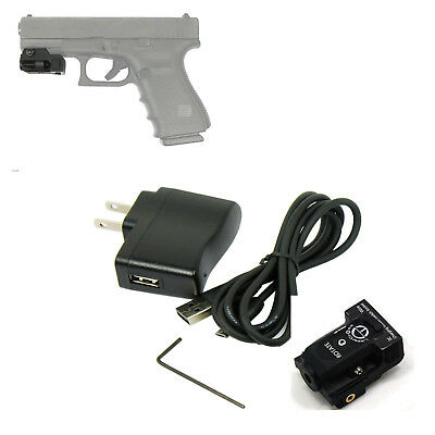 Micro Green Laser Sight Rechargeable Subcompact Pistol Sight Glock Ruger More