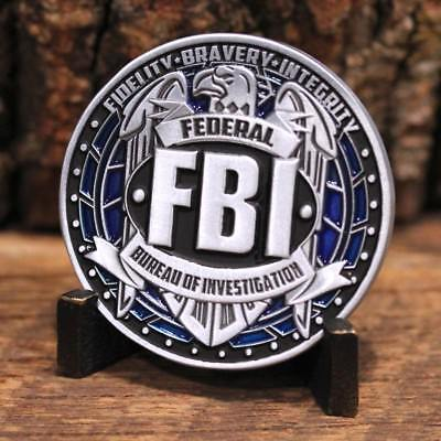 "Fbi Federal Bureau Of Investigation 1.75"" Challenge Coin"