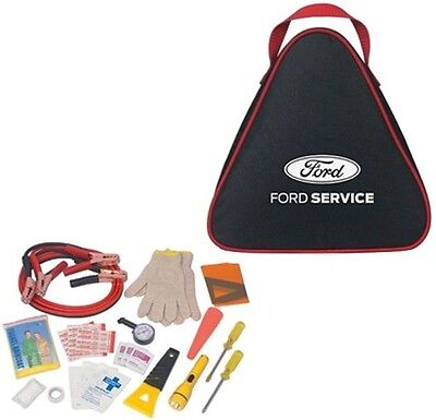 New Ford Motor Company Auto Safety Kit! Jumper Cables / 1St Aid Kit / Flashlight