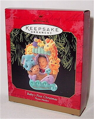 1999 DATED Hallmark - BABY'S FIRST 1ST CHRISTMAS  ornament - MINT IN BOX