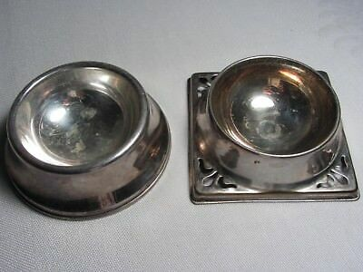 2 Vintage Regis EPNS Silverplate England Small Round Bowl Ashtray Salt Cellar