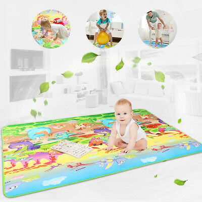 200x180cm Baby Children Crawling Carpet Rug Activity Soft Play Mat Game Picnic