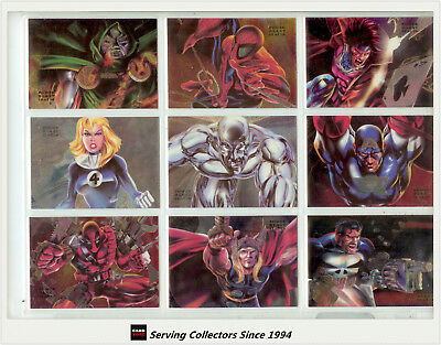 1994  Flair Marvel Annual Card Series Powerblast Foil Card Full Set (18)--RARE!