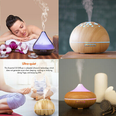300/500ML Essential Oil Aroma Diffuser 7 LED Ultrasonic Air Mist Aromatherapy