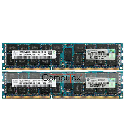 Hynix 32GB 2X16GB 2Rx4 PC3-12800R DDR3 1600 1.5V CL11 ECC REG Server Ram Memory