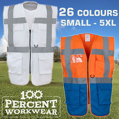 Yoko High Visibility Executive Zip Up Vest Waistcoat Safety Event Security Medic