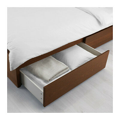 IKEA Malm set of 2 wheeled underbed storage boxes Brown stained ash veneer NEW  sc 1 st  PicClick UK & IKEA MALM SET of 2 wheeled underbed storage boxes Brown stained ash ...