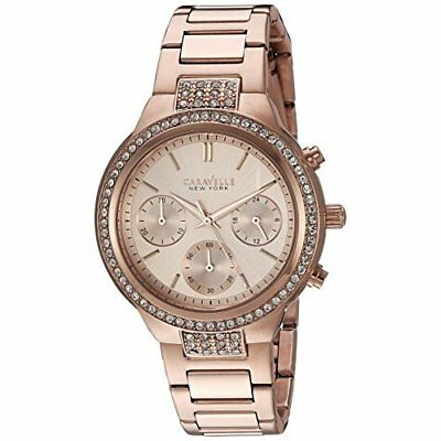 Bulova Women's Quartz Stainless Steel Casual Watch, Rose Gold-Tone, 44L180