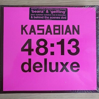 NEW CD & DVD - KASABIAN - 48:13 DELUXE - Pop Rock Indie Music CD Album & DVD