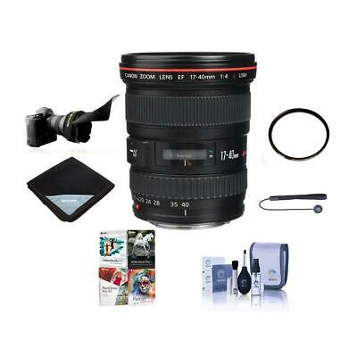 Canon EF 17mm-40mm f/4L USM Ultra Wide Angle Zoom Lens, w/Free Accessories