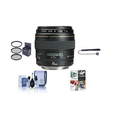Canon EF 85mm f/1.8 USM with Free Accessory Bundle #2519A003 NK