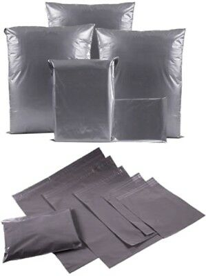 Strong Grey Poly Mailing Post Mail Postal Postage Self Seal Bags Plastic Mailers