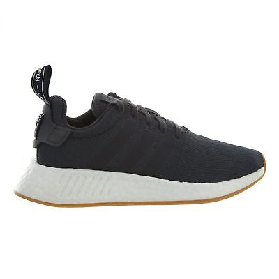 7c14d804f Adidas Nmd R2 Mens CQ2400 Grey Black White Knit Boost Running Shoes Size 13