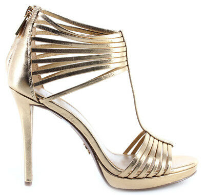 38540fa992d Women s Shoes Heels Sandal MICHAEL KORS Leann Sandal Metallic Leather Pale  Gold