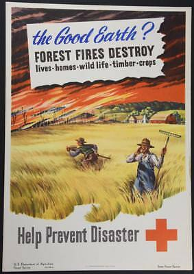 1948 Fire Prevention Poster Issued by the US Forest Service The Good Earth?