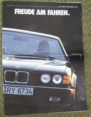 1989 BMW M3 M5 318i 320i 520i 525i 530i 635CSi 735i 750iL Brochure German wz1529