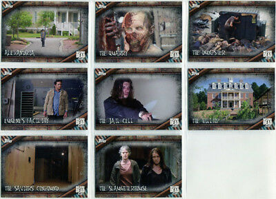 Walking Dead Season 6 Locations Complete 8 Card Chase Set