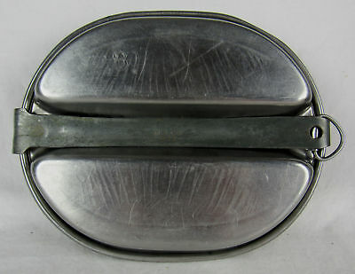 WWII US Army Meat Can Mess Kit M. A. Co. 1943 w/Initial & Number