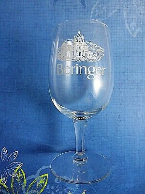 Clear Tapered Wine Glass Beringer Winery Napa Valley 8 Ounce Rhine House Logo