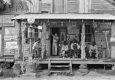 "1939 Old Photo, Country Store, Tobacco, Gas Pump, Coke, North Carolina 14""x10"""