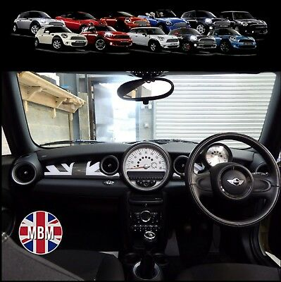 BMW MINI Cooper/S/ONE R55 R56 R57 R58 R59 Black Union Jack Dash Panel Covers UK