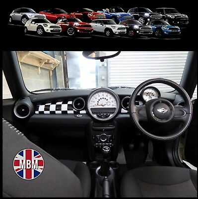 BMW MINI Cooper/S/ONE R55 R56 R57 R58 R59 CHEQUERED Dashboard Panel Covers UK