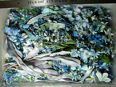 Huge 1 pound lot of loose silk flowers a massive collection of all huge 1 pound lot of loose silk flowers a massive collection of all blues 35 mightylinksfo Gallery