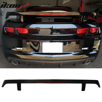 Fits 10-13 Chevy Camaro GM High Wing ABS Trunk Spoiler & LED 3rd Brake Light