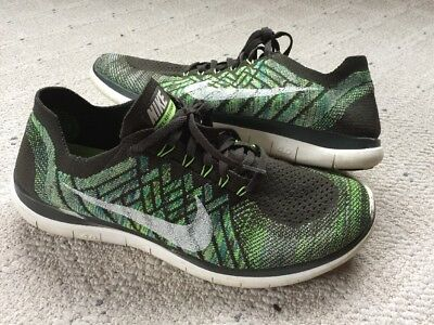 8f5f0266d3da1 Men size 10 Nike Free 4.0 Flyknit green running athletic gym shoes sneakers