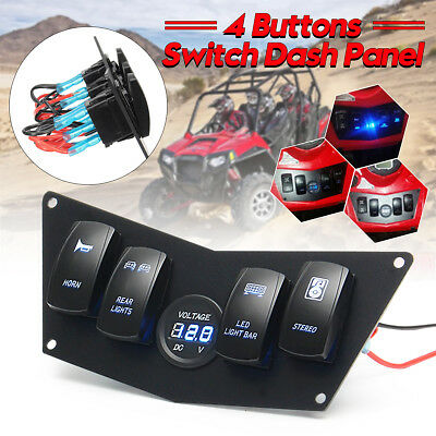 Dash Panel 4 Rocker Switch For Polaris Ranger RZR 800S 900XP XP900 570 ATV UTV