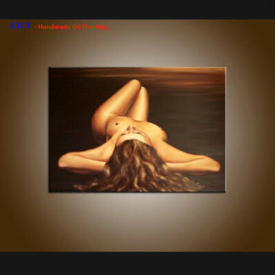 Handpainted Modern Wall Art Sexy Girl Nudes Oil Painting on Canvas Decor Art R39