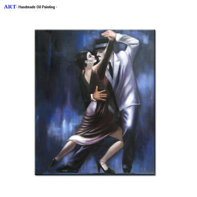 Handpainted MODERN ABSTRACT OIL PAINTING on Canvas Contemporary Wall Art Dancing